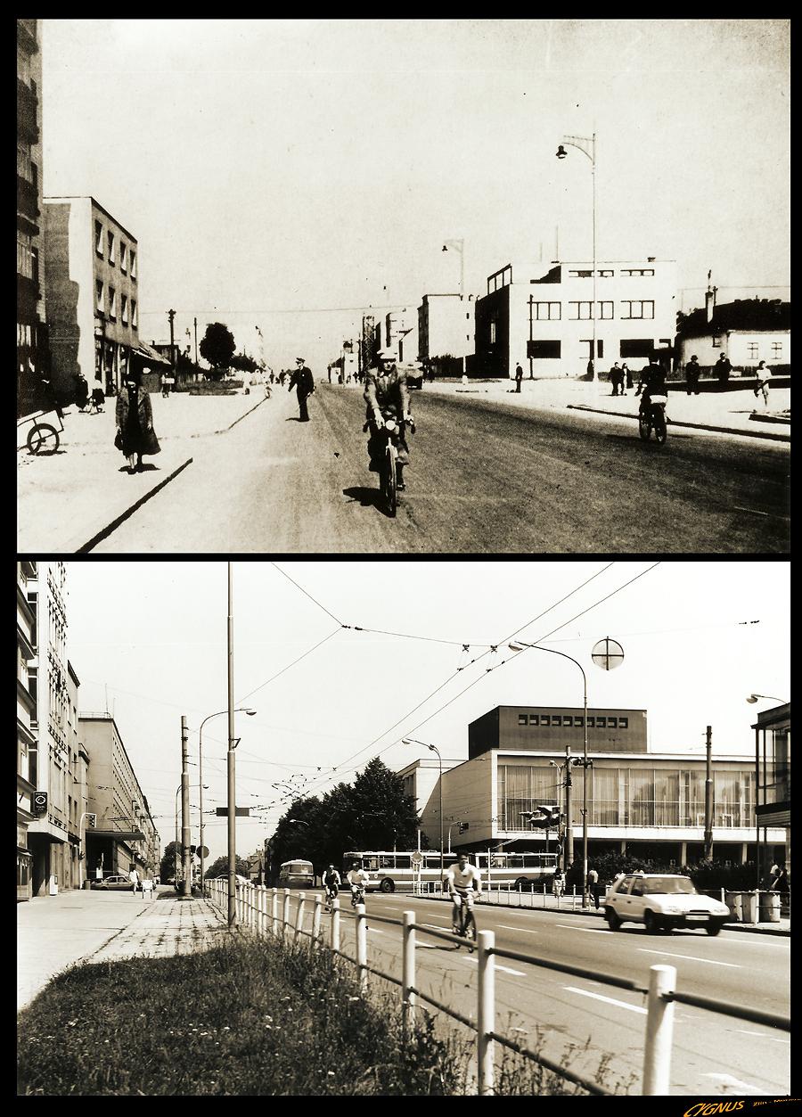 ulice - křižovatka Baťova x Dlouhá x Osvoboditelů