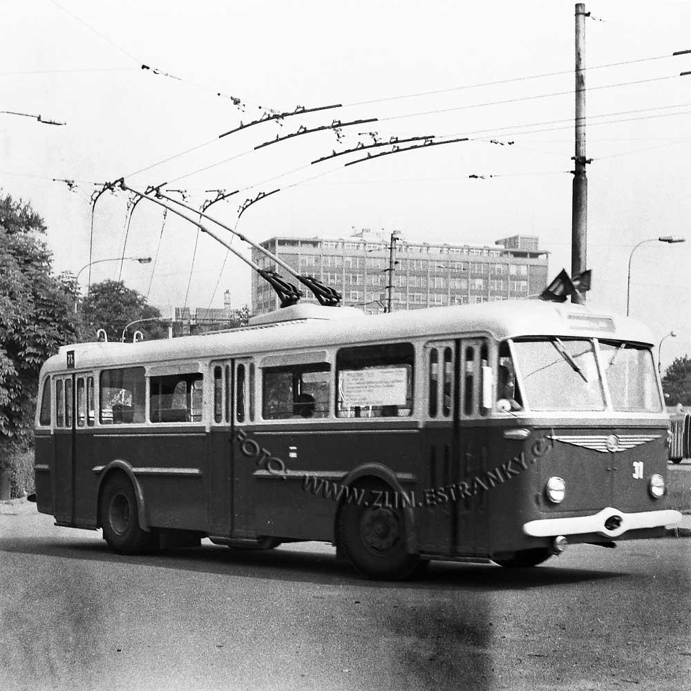 1989 - nadjezd na Jižní svahy - otevření trolejbusové dráhy 0