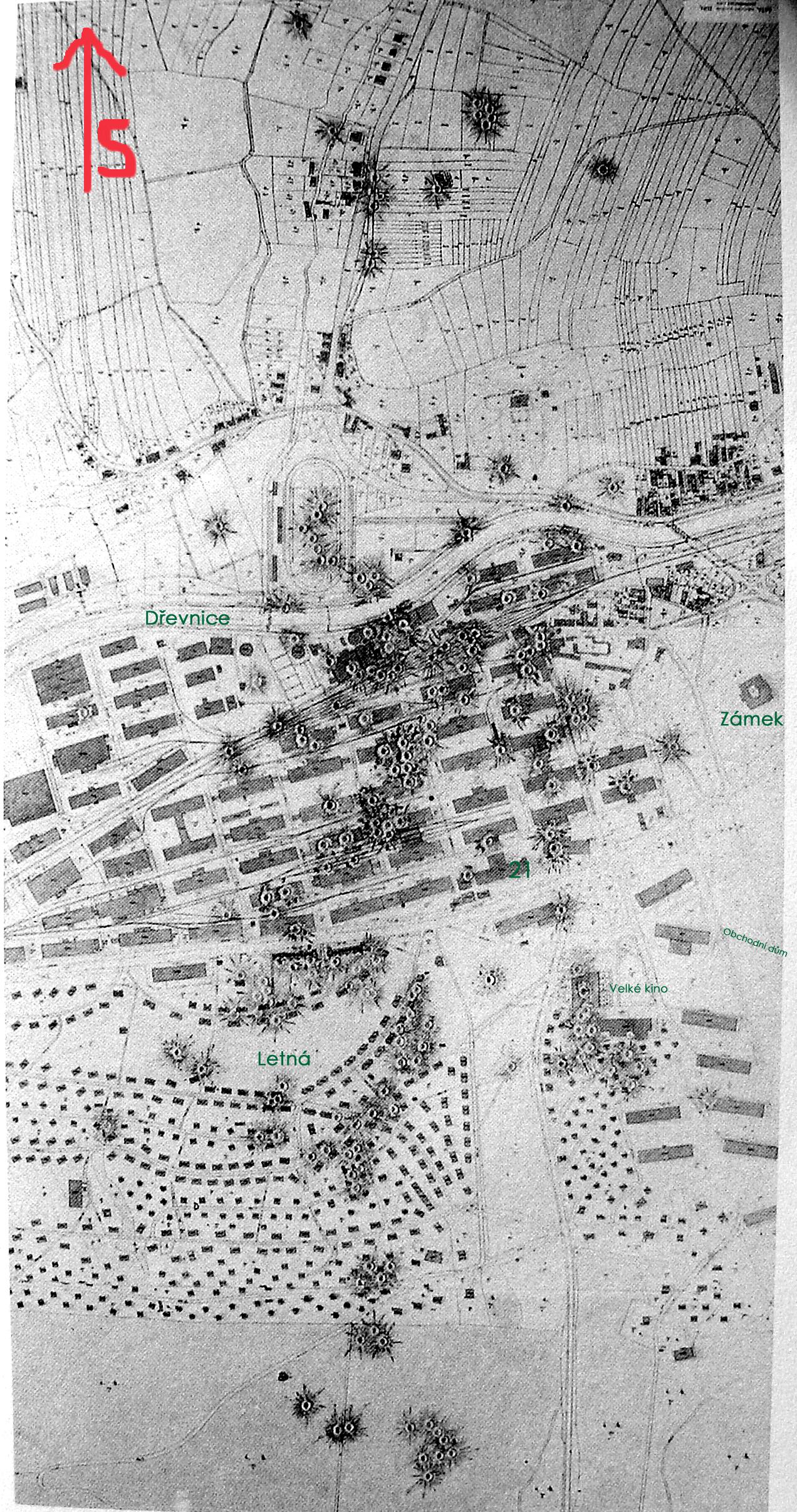 zz - Bomby za zlín - mapa zásahů
